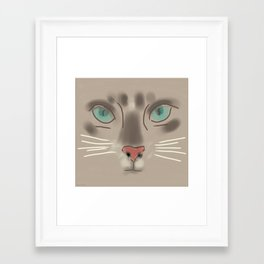 Piloucha, the Kitten Framed Art Print