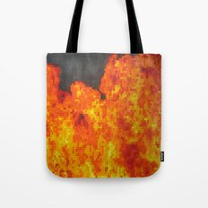 Fire on pixel (watercolor) Tote Bag