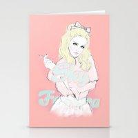 sky ferreira Stationery Cards featuring Sky Ferreira by Sara Eshak