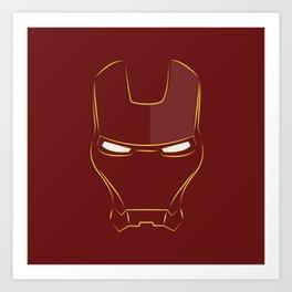 iron man face Art Print
