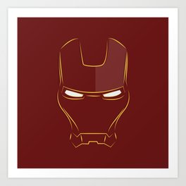 iron man face Art Print