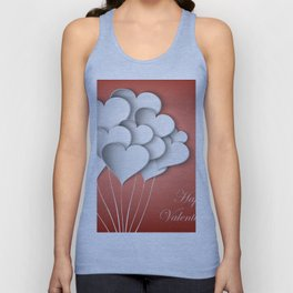 Balloons hearts from paper Valentine's Day Unisex Tank Top