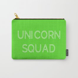 Unicorn Squad - Lime Green and White Carry-All Pouch