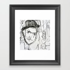 men  Framed Art Print