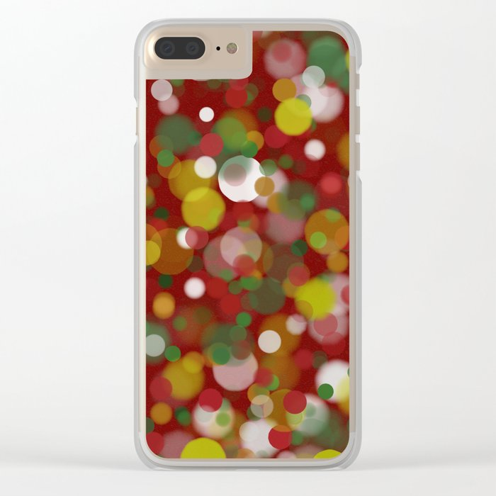 Christmas Bokeh Clear iPhone Case
