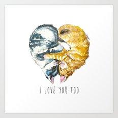 Cats Love . Valentine's Day Art Print