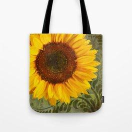 Sunflower Garden floral art Tote Bag
