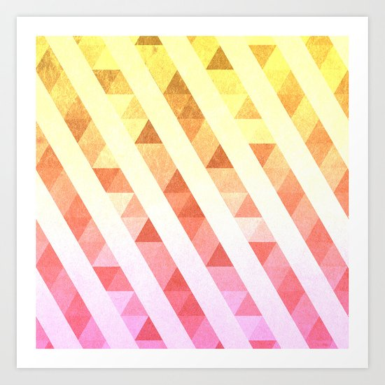 Triangles Lines Pattern Art Print