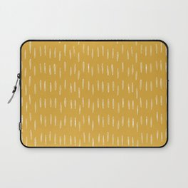Raindrop Abstract Boho Pattern, Yellow Laptop Sleeve