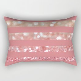 Champagne Tango Stripes Rectangular Pillow
