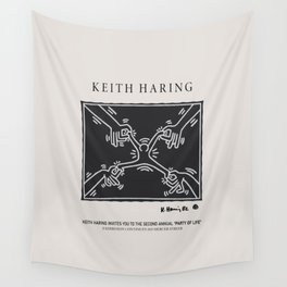 Keith Art, Exhibition Poster, Japan Vintage Print Wall Tapestry