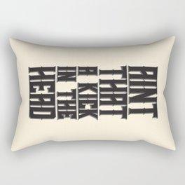 Aint That a Kick in the Head Rectangular Pillow
