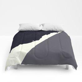 Contemporary Minimalistic Black and White Art Comforters