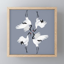 Crane Ballet Framed Mini Art Print