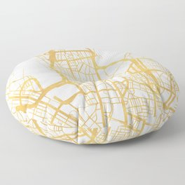 SYDNEY AUSTRALIA CITY STREET MAP ART Floor Pillow