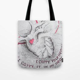 I carry your heart (I carry it in my heart) Tote Bag