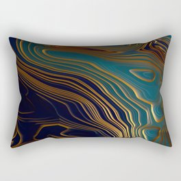 Peacock Ocean Rectangular Pillow