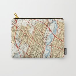 Vintage Map of Hackensack NJ (1940) Carry-All Pouch