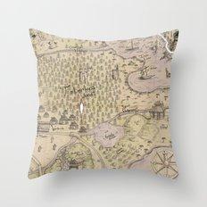 Rough Terrain Throw Pillow