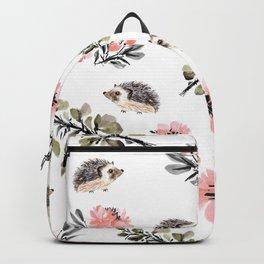 Floral hedgehog Backpack