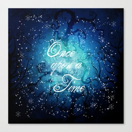 Once Upon A Time ~ Winter Snow Fairytale Forest Canvas Print