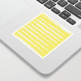 Irregular Stripes Yellow Sticker
