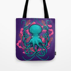 Octupus and Coral Tote Bag