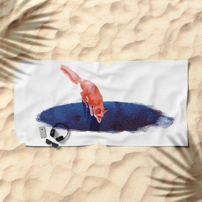 Jump into nowhere Beach Towel
