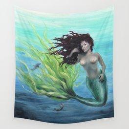 Calypso Nude Mermaid Underwater Wall Tapestry