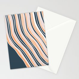 Abstract stripe line art Stationery Cards