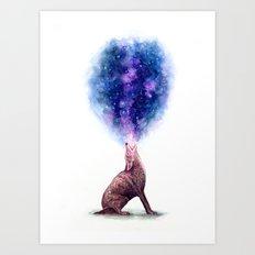 Galaxy Howl Art Print