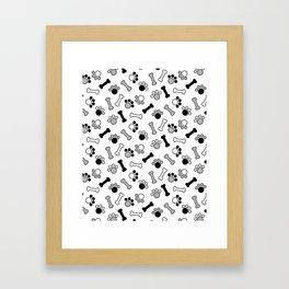 Paws and Bones Framed Art Print