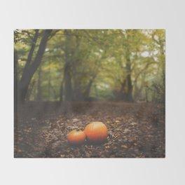 Family Pumpkin Throw Blanket