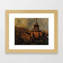 Church on the Camino de Santiago Framed Art Print
