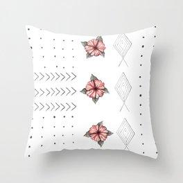 Hibisfish Throw Pillow