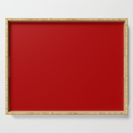 Chili Pepper Red - Solid Color Collection Serving Tray