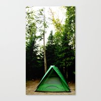 camp Canvas Prints featuring Camp by Inverse Funk