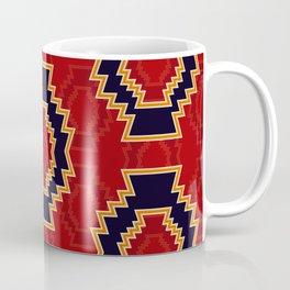 Aztec symbol pattern on red background Coffee Mug