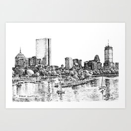 Back Bay, Boston Art Print