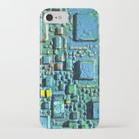 technology iPhone & iPod Cases featuring Crowded Technology  by mark jones