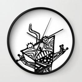 lizard graphic Wall Clock