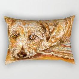 Dog Relaxing Rectangular Pillow