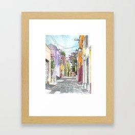 San Miguel Allende Street 2 Framed Art Print