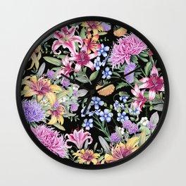 FLORAL GARDEN 3 #floral #flowers #vintage Wall Clock