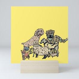 Pet Family Photoshoot Mini Art Print