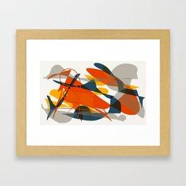 Abstract Bird Framed Art Print