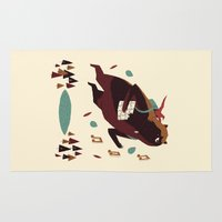 banjo Area & Throw Rugs featuring banjo-kazooie by Louis Roskosch