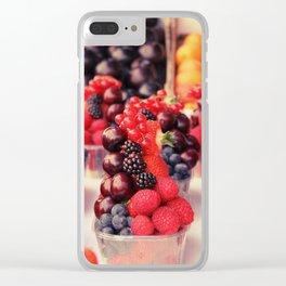 Prague Berries Clear iPhone Case