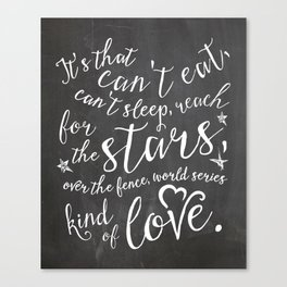World Series Kind of Love Canvas Print