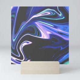 Tell Me - Marbling Pattern Mini Art Print